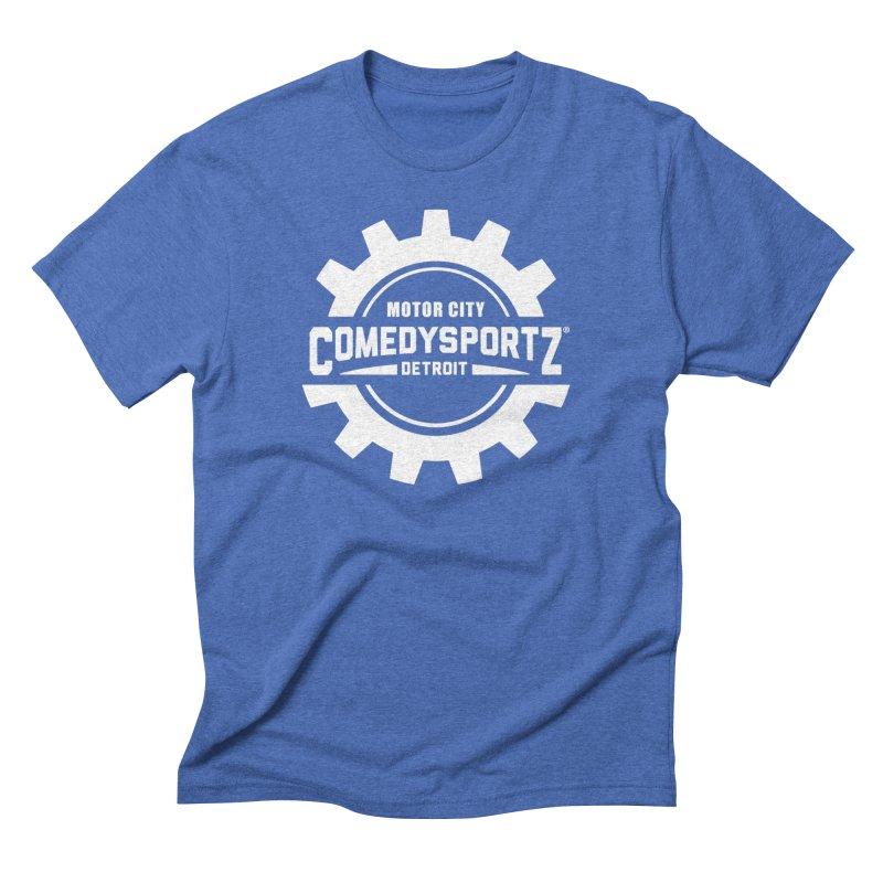 ComedySportz Logo White Men's T-Shirt by ComedySportz Detroit Merch