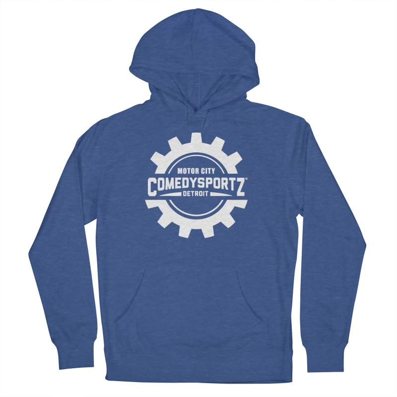 ComedySportz Logo White Women's Pullover Hoody by ComedySportz Detroit Merch