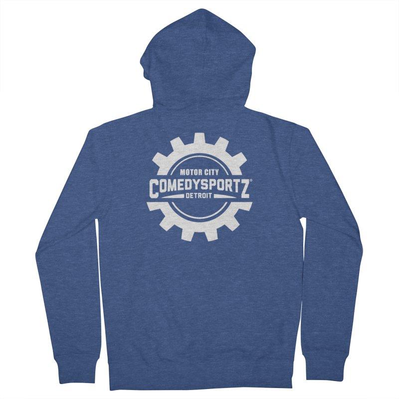 ComedySportz Logo White Men's Zip-Up Hoody by ComedySportz Detroit Merch