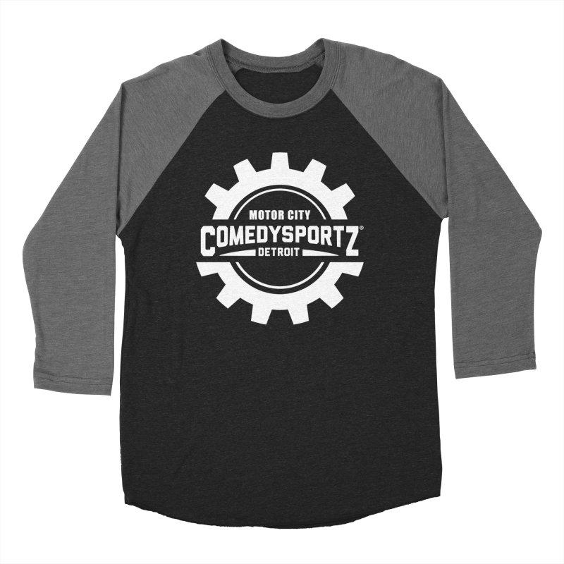 ComedySportz Logo White Women's Longsleeve T-Shirt by ComedySportz Detroit Merch