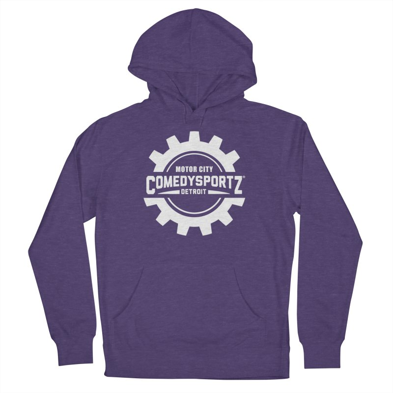 ComedySportz Logo White Women's French Terry Pullover Hoody by ComedySportz Detroit Merch