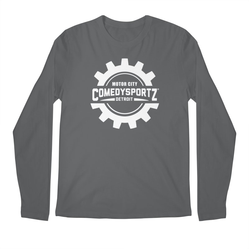 ComedySportz Logo White Men's Longsleeve T-Shirt by ComedySportz Detroit Merch
