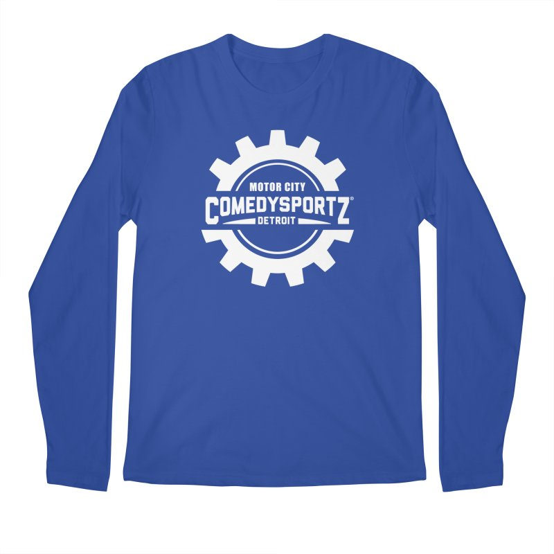 ComedySportz Logo White Men's Regular Longsleeve T-Shirt by ComedySportz Detroit Merch