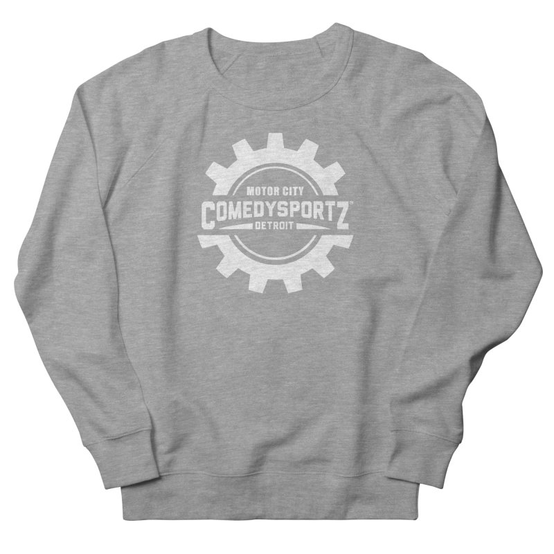 ComedySportz Logo White Men's French Terry Sweatshirt by ComedySportz Detroit Merch