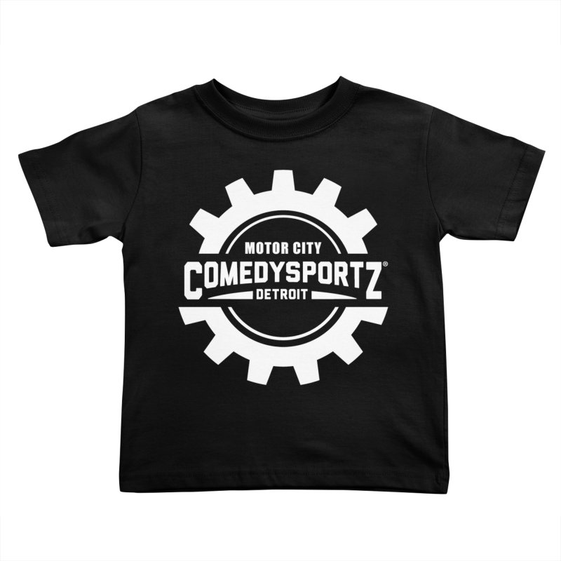 ComedySportz Logo White Kids Toddler T-Shirt by ComedySportz Detroit Merch