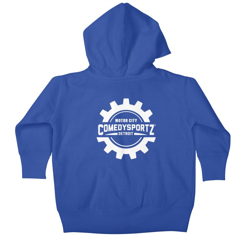 ComedySportz Logo White Kids Baby Zip-Up Hoody by ComedySportz Detroit Merch