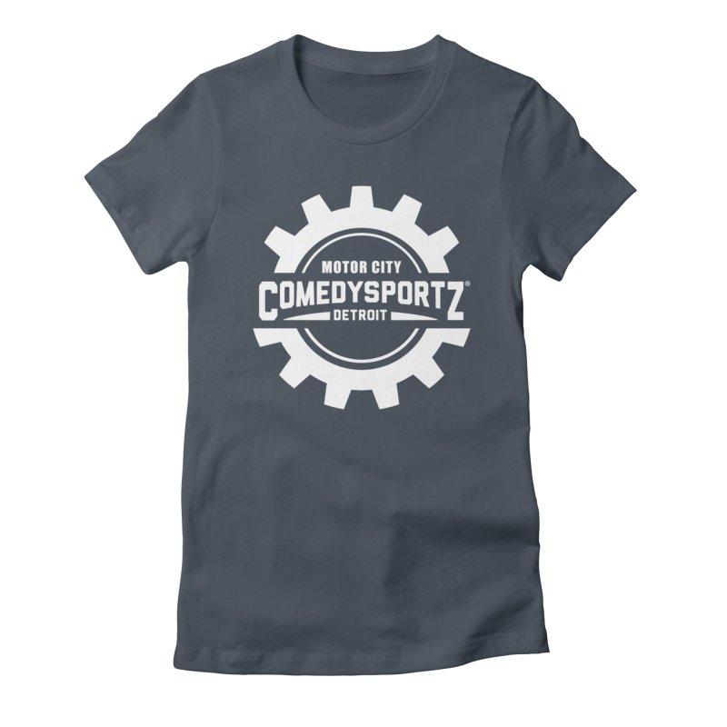 ComedySportz Logo White Women's T-Shirt by ComedySportz Detroit Merch