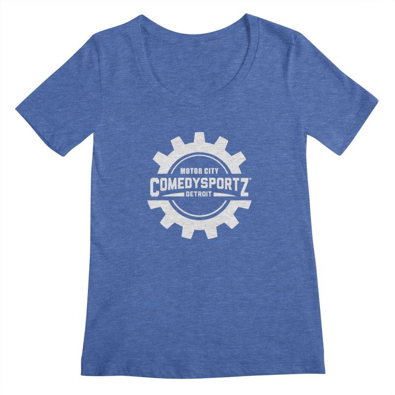 ComedySportz Logo White Women's Regular Scoop Neck by ComedySportz Detroit Merch