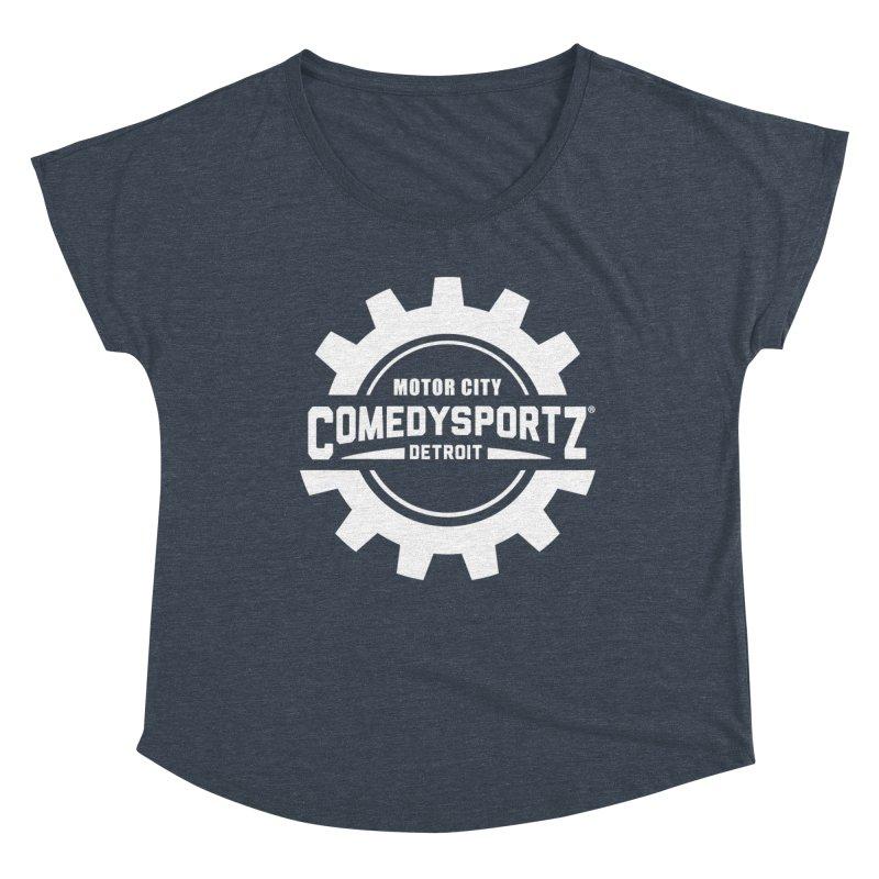 ComedySportz Logo White Women's Dolman Scoop Neck by ComedySportz Detroit Merch