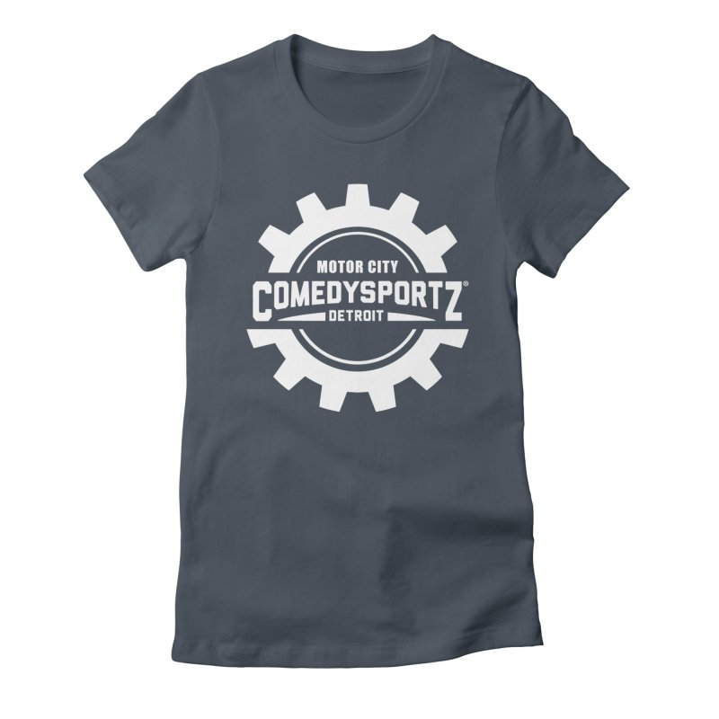 ComedySportz Logo White Women's Fitted T-Shirt by ComedySportz Detroit Merch