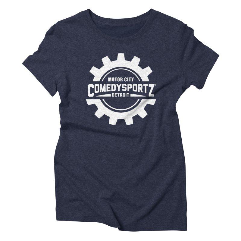 ComedySportz Logo White Women's Triblend T-Shirt by ComedySportz Detroit Merch