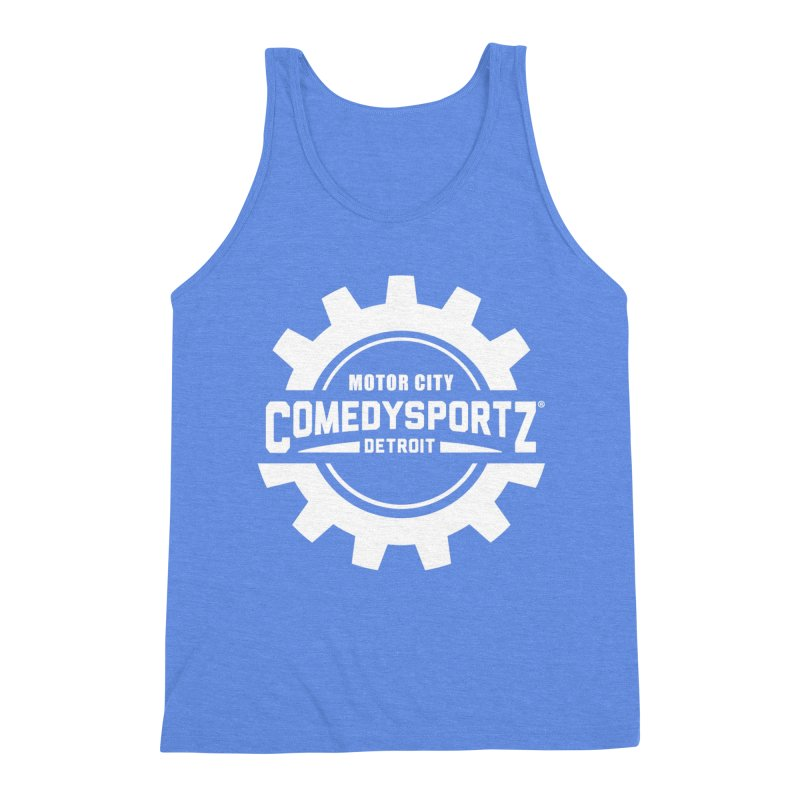 ComedySportz Logo White Men's Triblend Tank by ComedySportz Detroit Merch