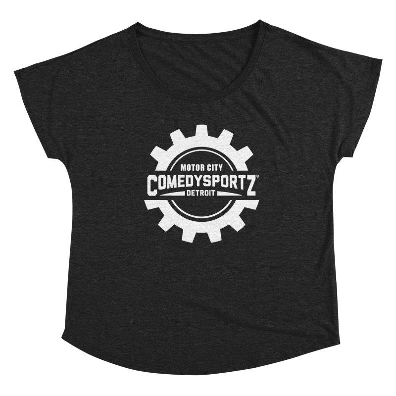 ComedySportz Logo White Women's Scoop Neck by ComedySportz Detroit Merch