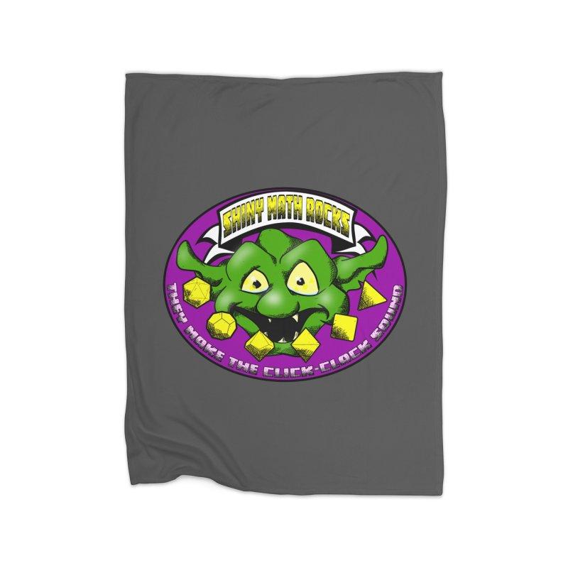 Shiny Math Rocks Home Fleece Blanket Blanket by Comedyrockgeek 's Artist Shop