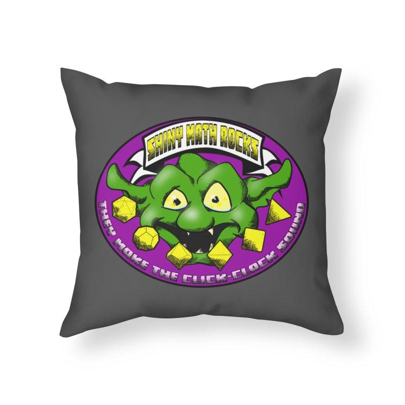 Shiny Math Rocks Home Throw Pillow by Comedyrockgeek 's Artist Shop