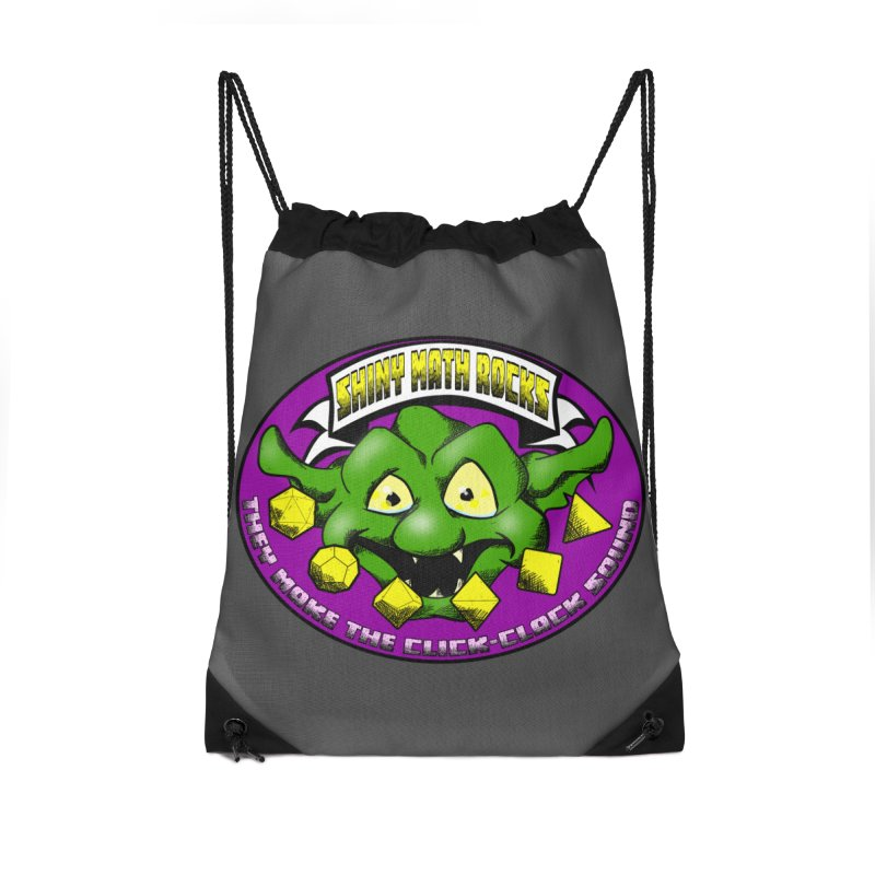 Shiny Math Rocks Accessories Drawstring Bag Bag by Comedyrockgeek 's Artist Shop