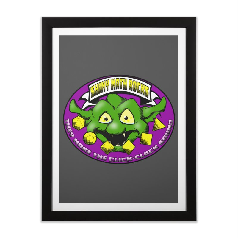 Shiny Math Rocks Home Framed Fine Art Print by Comedyrockgeek 's Artist Shop