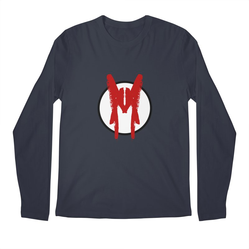 M Symbol Men's Regular Longsleeve T-Shirt by Comedyrockgeek 's Artist Shop