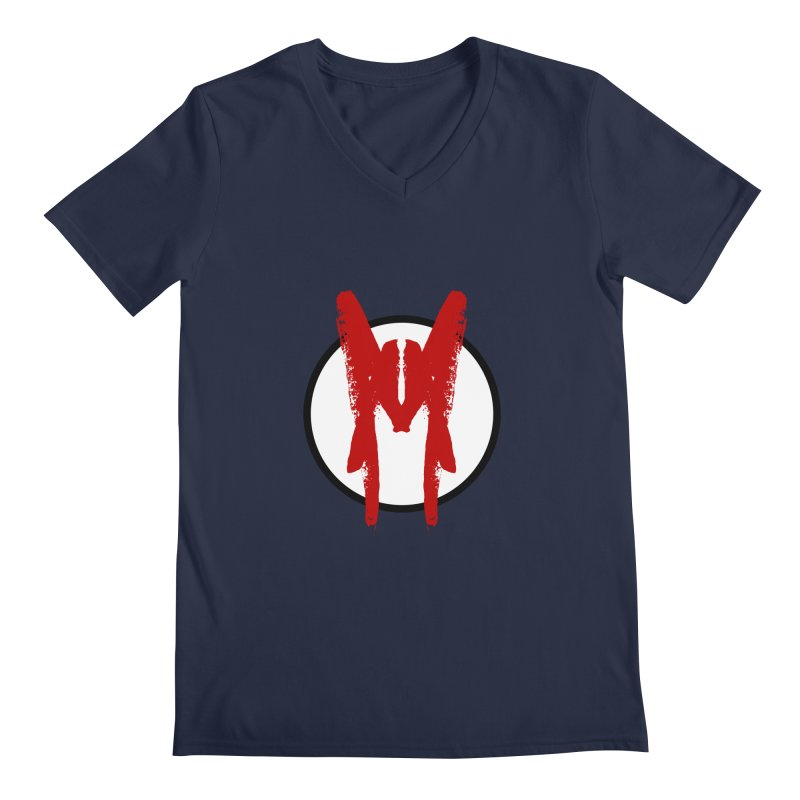 M Symbol Men's Regular V-Neck by Comedyrockgeek 's Artist Shop