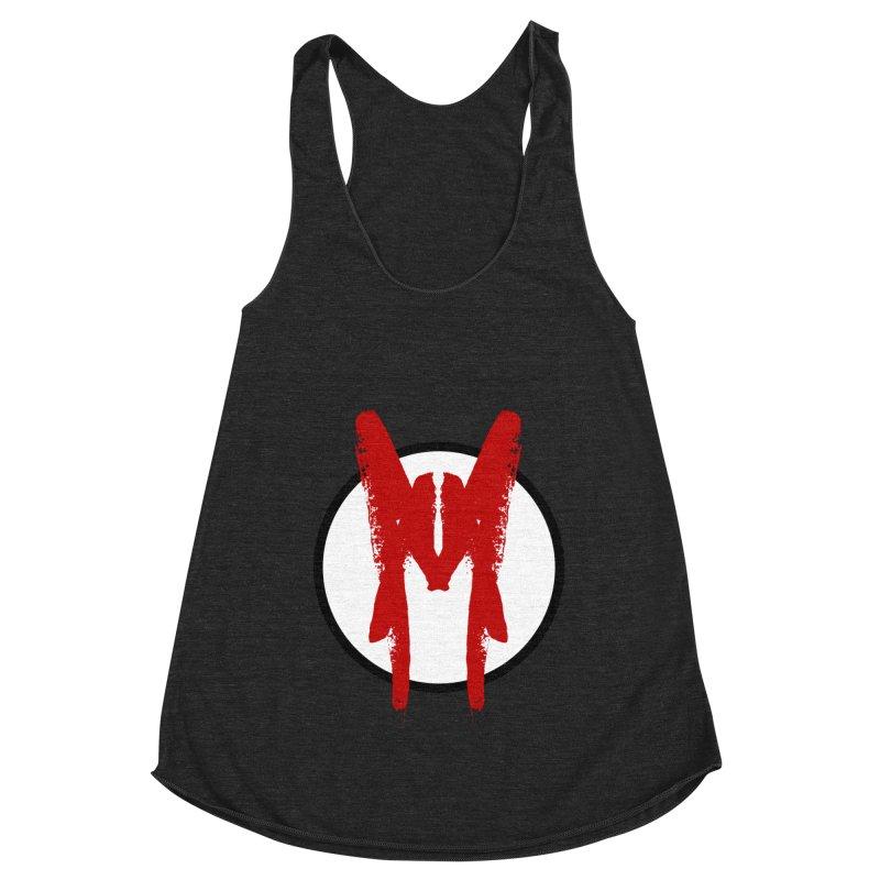 M Symbol Women's Racerback Triblend Tank by Comedyrockgeek 's Artist Shop