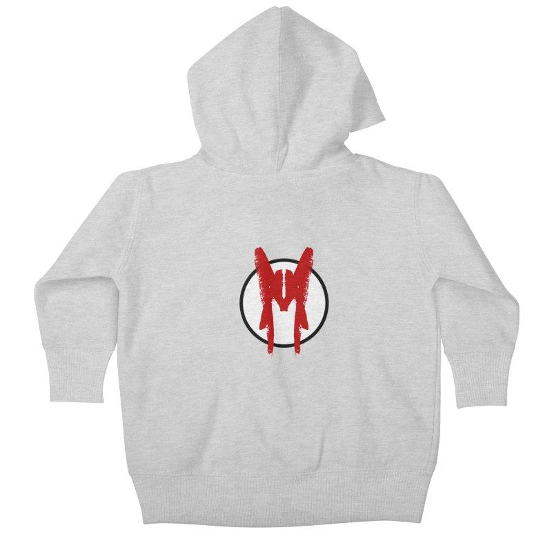 M Symbol Kids Baby Zip-Up Hoody by Comedyrockgeek 's Artist Shop