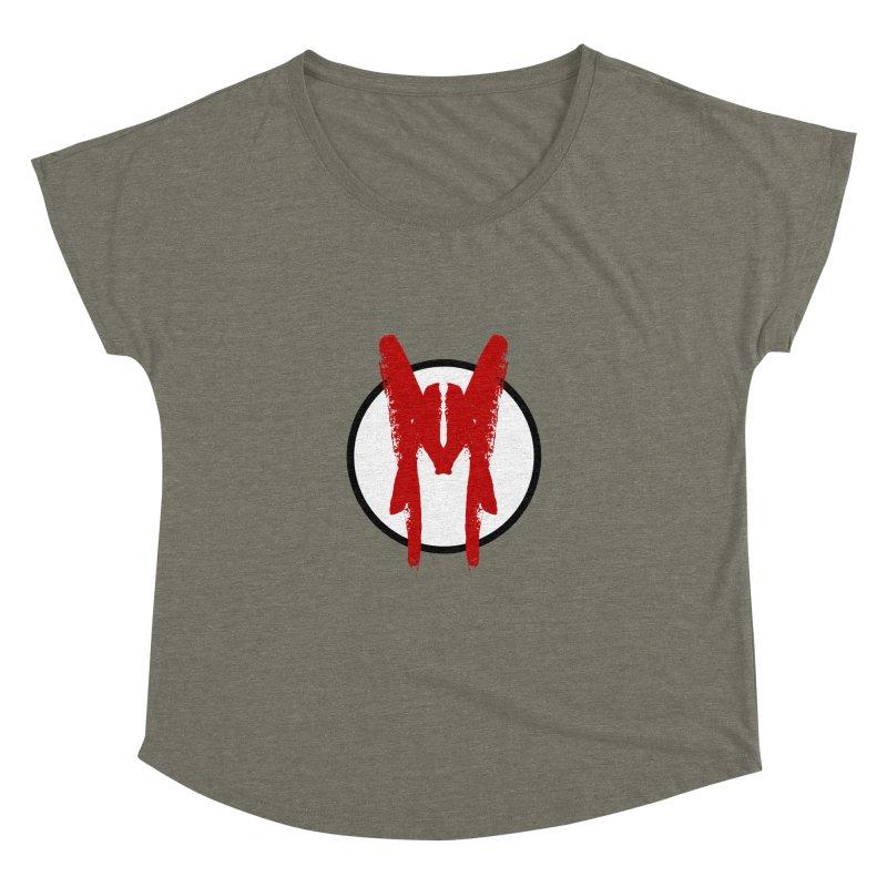 M Symbol Women's Dolman Scoop Neck by Comedyrockgeek 's Artist Shop