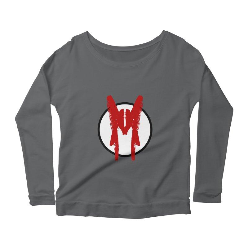 M Symbol Women's Scoop Neck Longsleeve T-Shirt by Comedyrockgeek 's Artist Shop