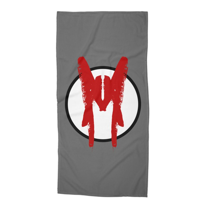 M Symbol Accessories Beach Towel by Comedyrockgeek 's Artist Shop