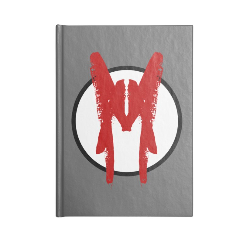 M Symbol Accessories Lined Journal Notebook by Comedyrockgeek 's Artist Shop