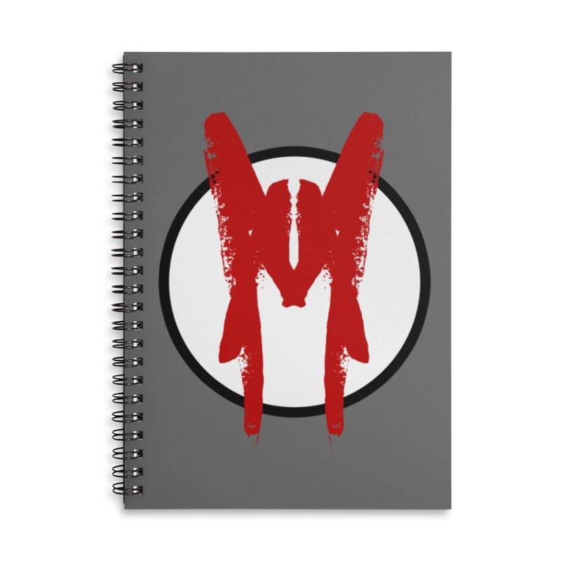 M Symbol Accessories Lined Spiral Notebook by Comedyrockgeek 's Artist Shop
