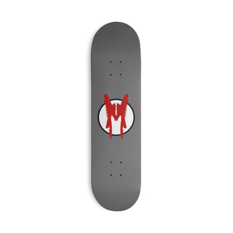 M Symbol Accessories Deck Only Skateboard by Comedyrockgeek 's Artist Shop