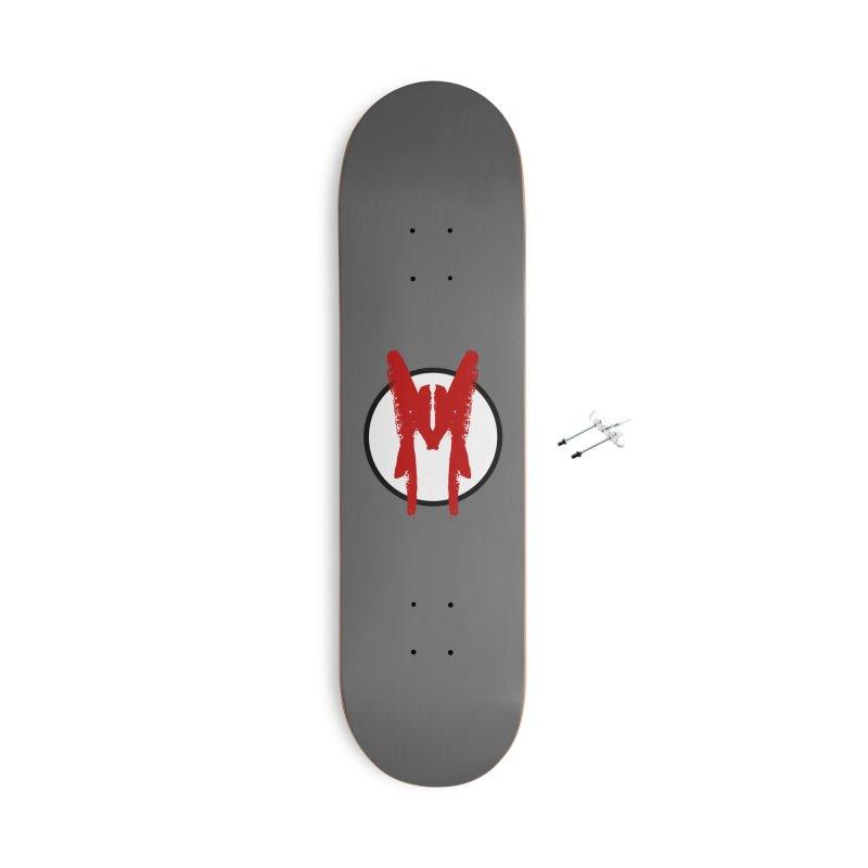 M Symbol Accessories With Hanging Hardware Skateboard by Comedyrockgeek 's Artist Shop
