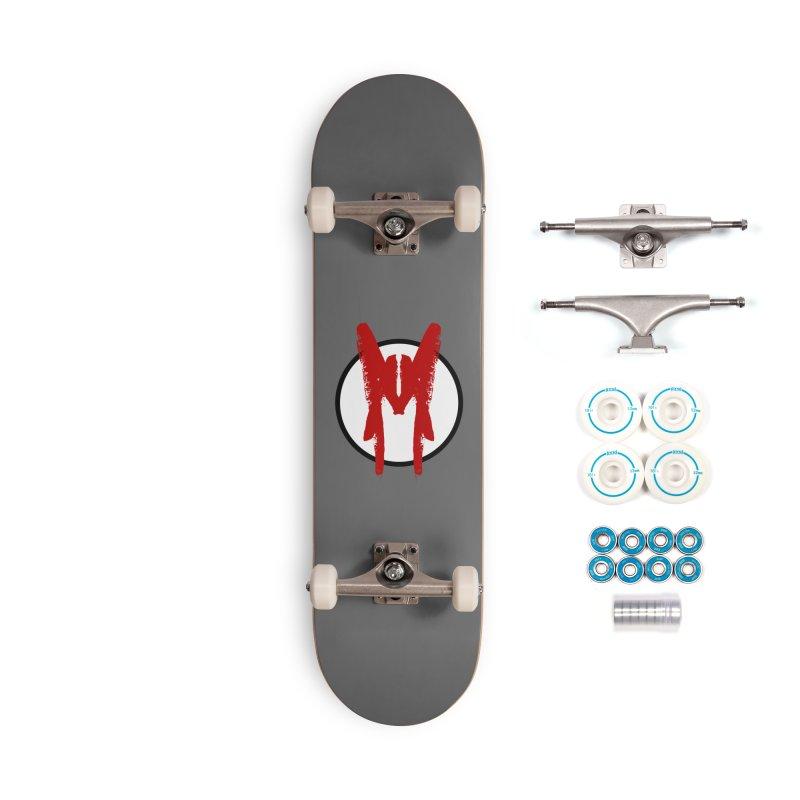 M Symbol Accessories Complete - Basic Skateboard by Comedyrockgeek 's Artist Shop