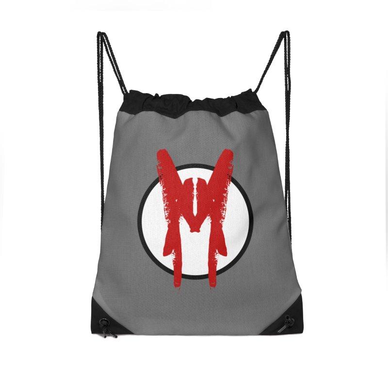 M Symbol Accessories Drawstring Bag Bag by Comedyrockgeek 's Artist Shop