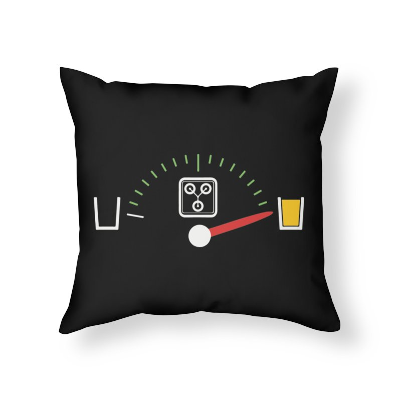 Beer Powered Time Machine Home Throw Pillow by Comedyrockgeek 's Artist Shop