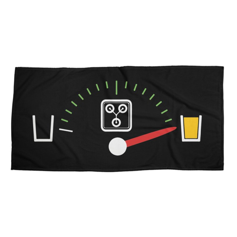 Beer Powered Time Machine Accessories Beach Towel by Comedyrockgeek 's Artist Shop