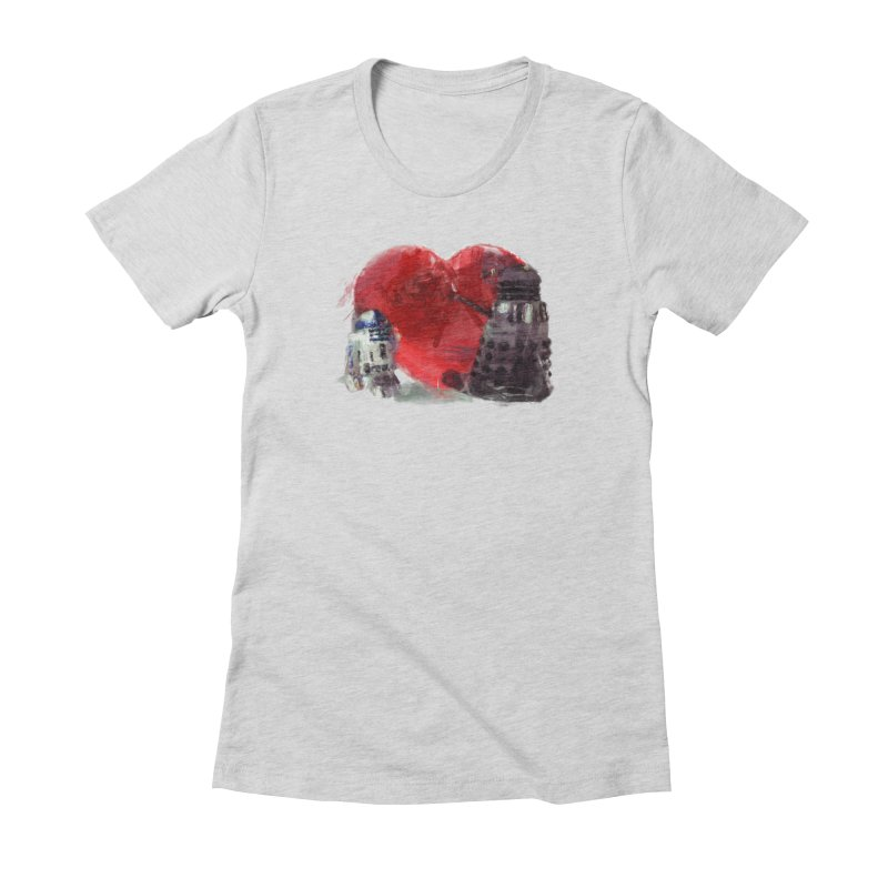 Love Connection Women's Fitted T-Shirt by Comedyrockgeek 's Artist Shop