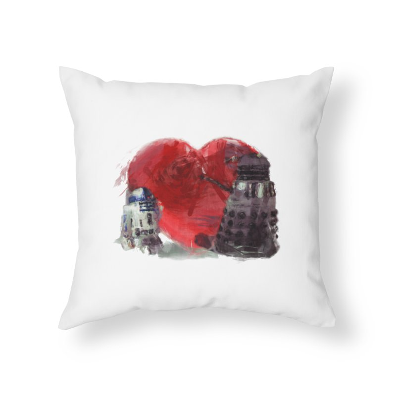 Love Connection Home Throw Pillow by Comedyrockgeek 's Artist Shop