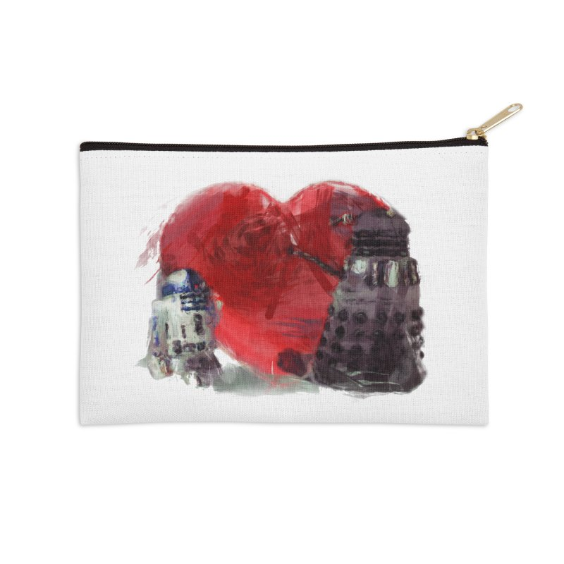 Love Connection Accessories Zip Pouch by Comedyrockgeek 's Artist Shop