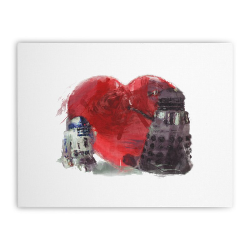 Love Connection Home Stretched Canvas by Comedyrockgeek 's Artist Shop