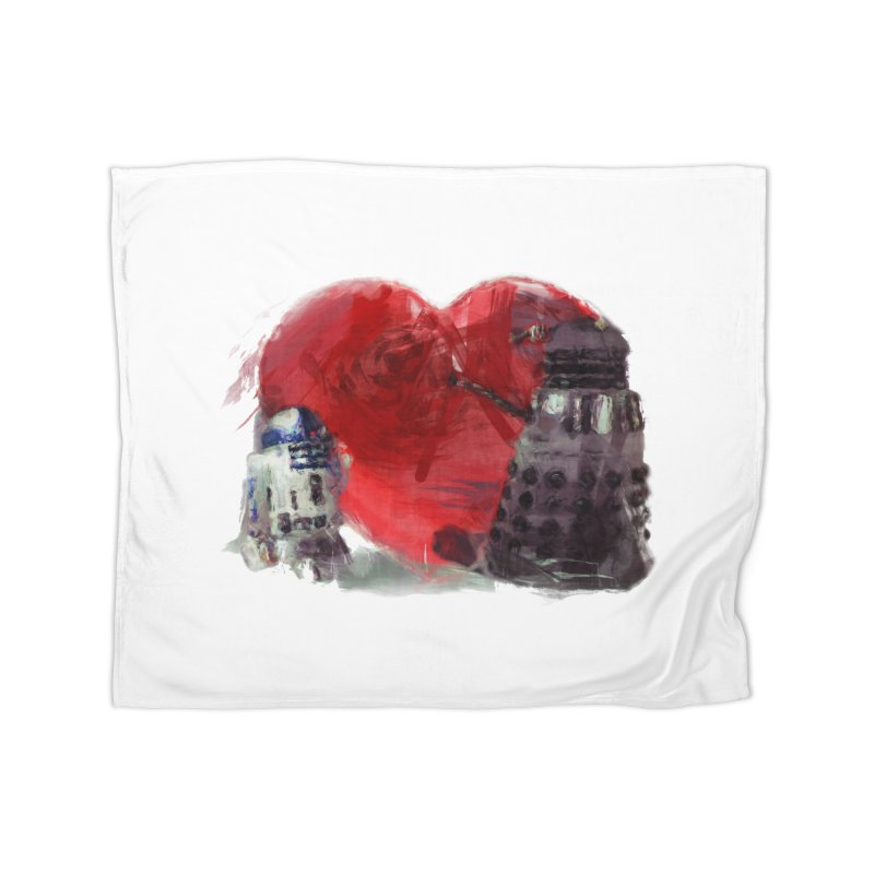 Love Connection Home Fleece Blanket Blanket by Comedyrockgeek 's Artist Shop