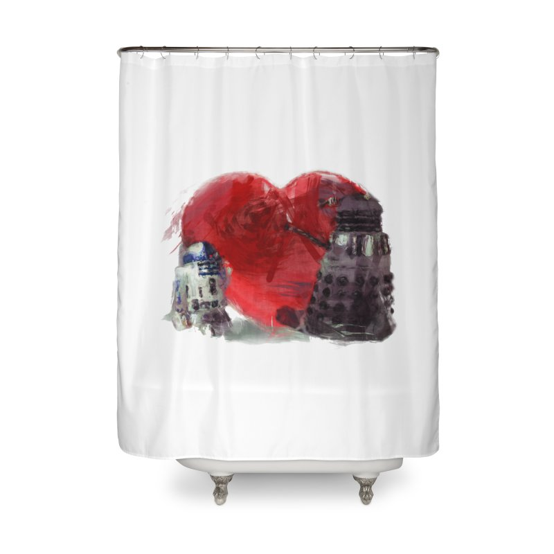 Love Connection Home Shower Curtain by Comedyrockgeek 's Artist Shop