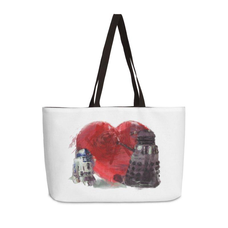 Love Connection Accessories Weekender Bag Bag by Comedyrockgeek 's Artist Shop