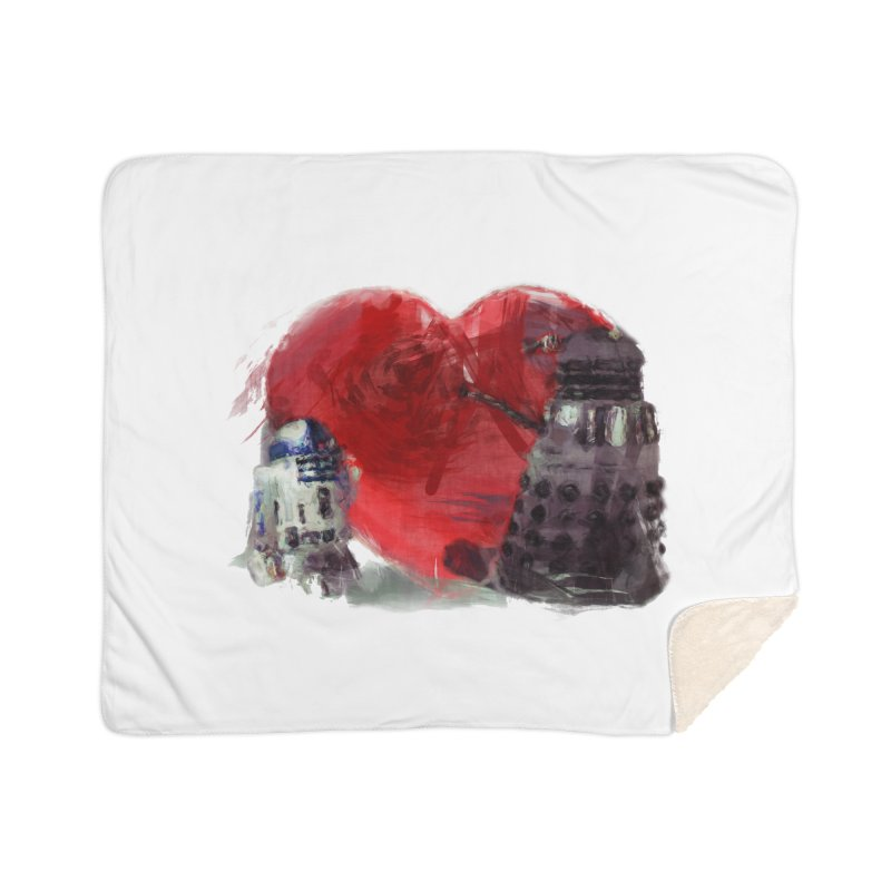 Love Connection Home Sherpa Blanket Blanket by Comedyrockgeek 's Artist Shop
