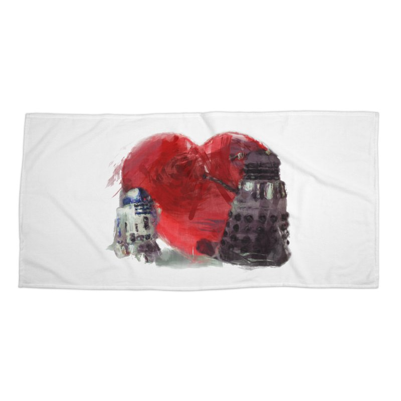 Love Connection Accessories Beach Towel by Comedyrockgeek 's Artist Shop