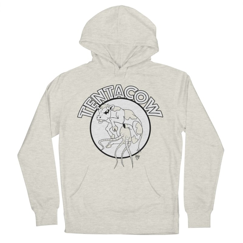 Tentacow Men's French Terry Pullover Hoody by Comedyrockgeek 's Artist Shop