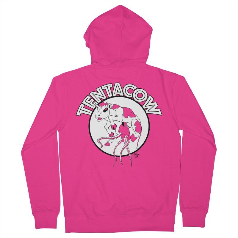 Tentacow Men's Zip-Up Hoody by Comedyrockgeek 's Artist Shop