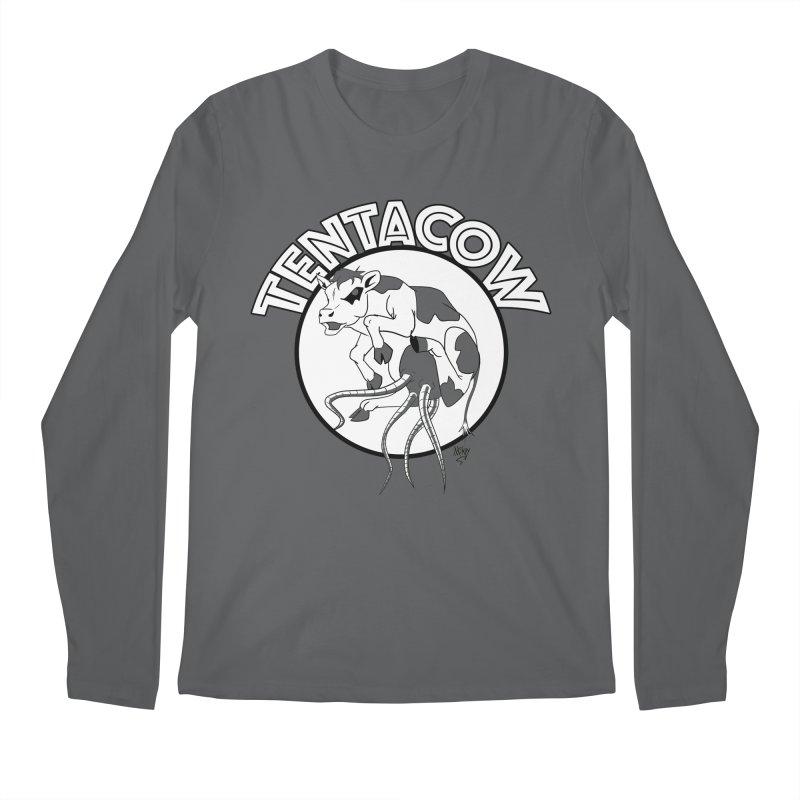 Tentacow Men's Regular Longsleeve T-Shirt by Comedyrockgeek 's Artist Shop