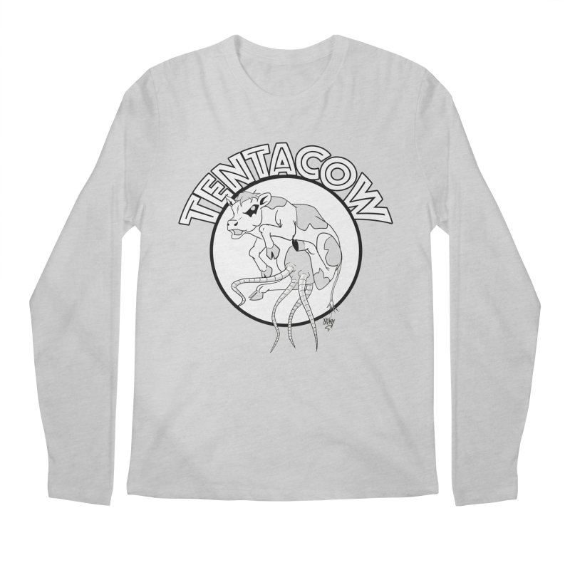 Tentacow Men's Regular Longsleeve T-Shirt by Comedyrockgeek 's Artist Shop