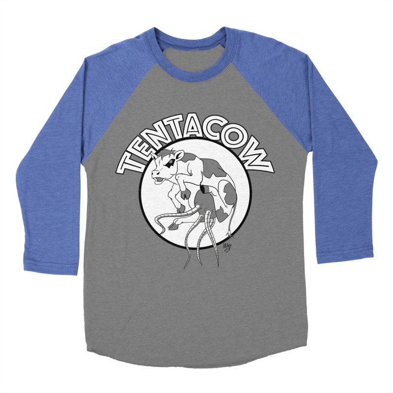 Tentacow Men's Baseball Triblend T-Shirt by Comedyrockgeek 's Artist Shop